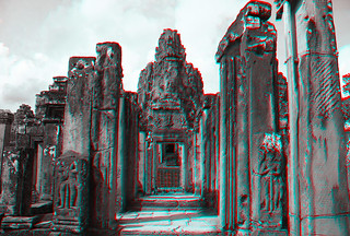 Siem Reap K - Bayon Anaglyph 3d 02