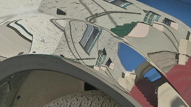 A14954 / car reflection abstract, Panasonic DMC-FZ47