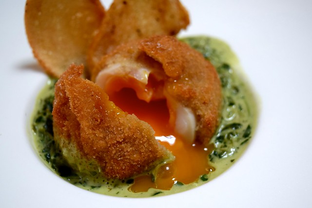 Deep Fried Hens Egg at The Granville, Canterbury | www.rachelphipps.com @rachelphipps