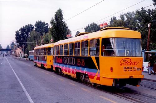 tatrat4yu tatra tramway zagreb années90 zagrebackielektričnitramvaj zet croatie croatia hrvatska kodak strasenbahn