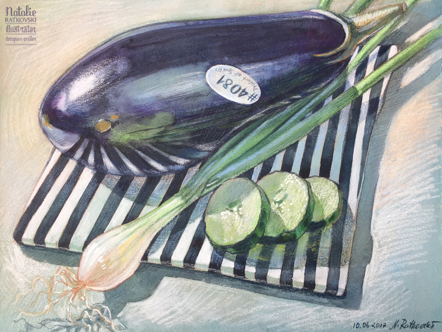 Cucumber & aubergine