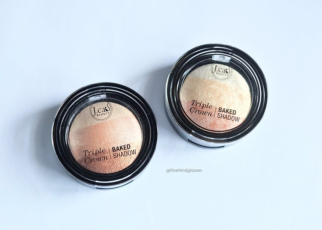 J.Cat Beauty Triple Crown Baked Shadow Creme Brulee and Dolce de Leche