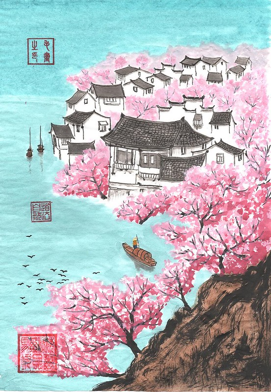 Village in blossom - 14 April 2017