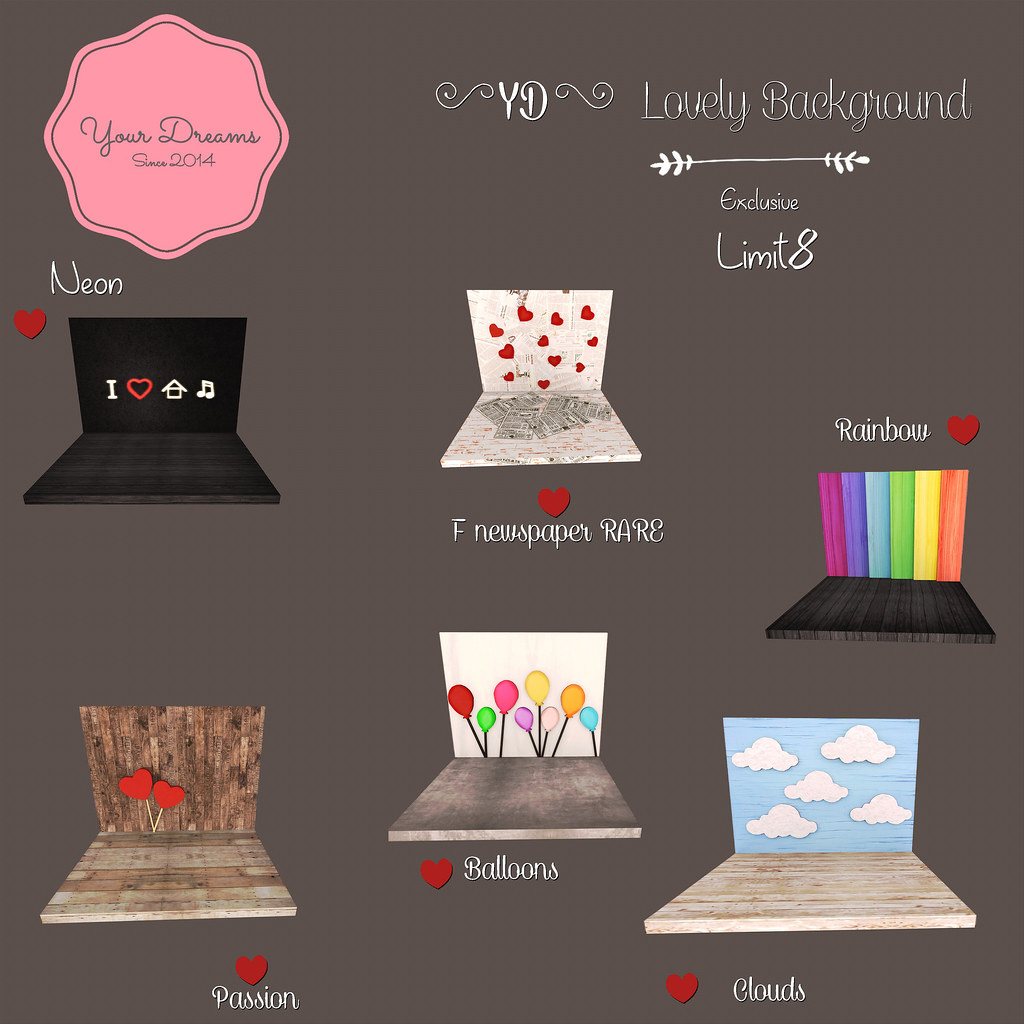 {YD} Lovely Background - Gacha - SecondLifeHub.com