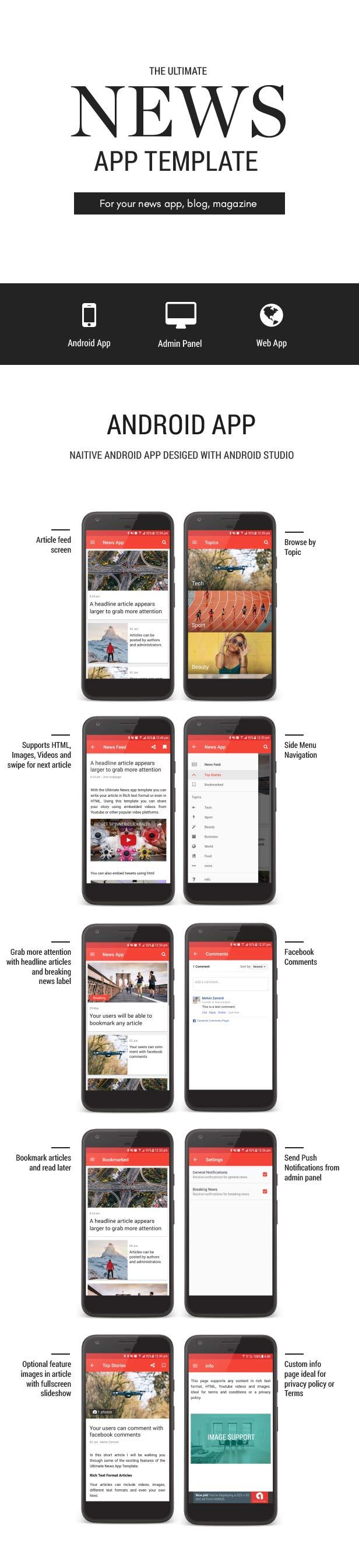 Templat Aplikasi Berita Utama - 5