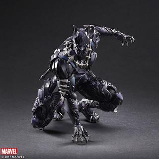 秘境黃金城「瓦干達」的帝王!!Play Arts 改【黑豹】Marvel Universe Black Panther