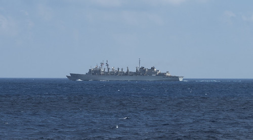 Wed, 06/21/2017 - 08:47 - 170621-N-AJ467-002 MEDITERRANEAN SEA (June 21, 2017) The fast combat supply ship USNS Supply (TAOE-6) conducts a replenishment-at-sea (RAS) with the USS Philippine Sea (CG 58). Philippine Sea, part of the George H.W. Bush Carrier Strike Group (GHWBCSG), is conducting naval operations in the U.S. 6th Fleet area of operations in support of U.S. national security interests in Europe and Africa. (U.S. Navy photo by Mass Communication Specialist Seaman Darien Weigel/Released)