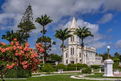 Catedral de Nossa Senhora do Bom Conselho, na Praça Lourival Monte, em Amargosa – Bahia, Brasil