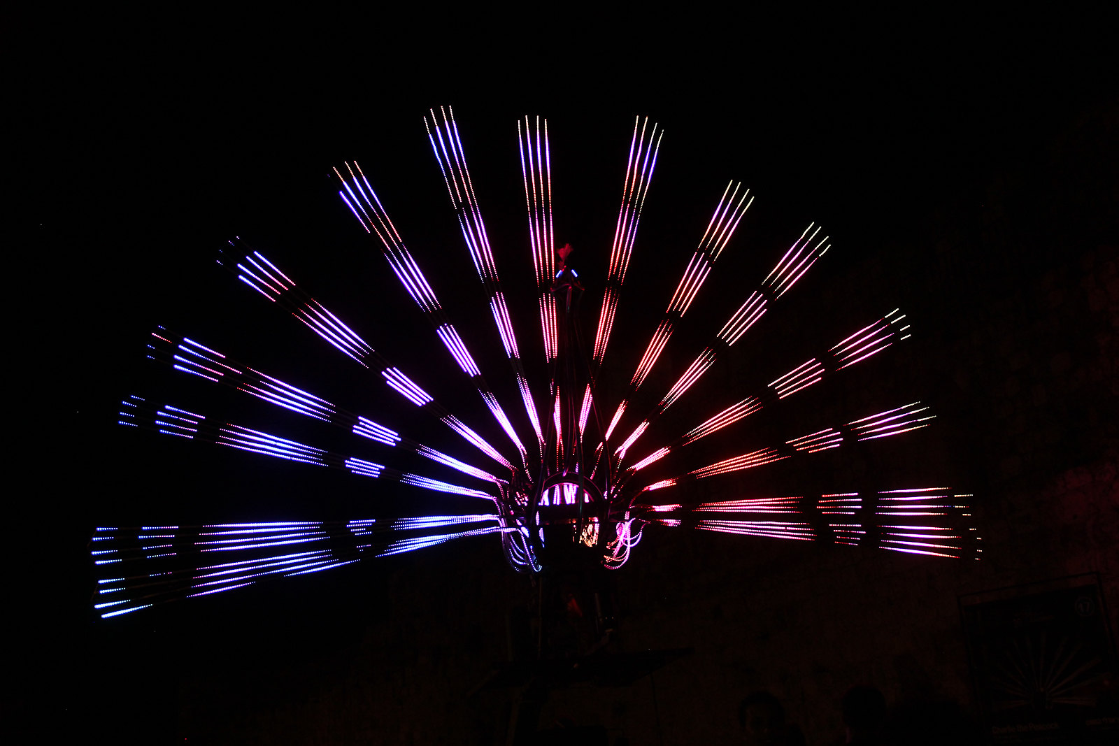 """Peacock,"" Jerusalem Festival of Light 2017"