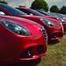 A row of Alfa Romeo Giuliettas