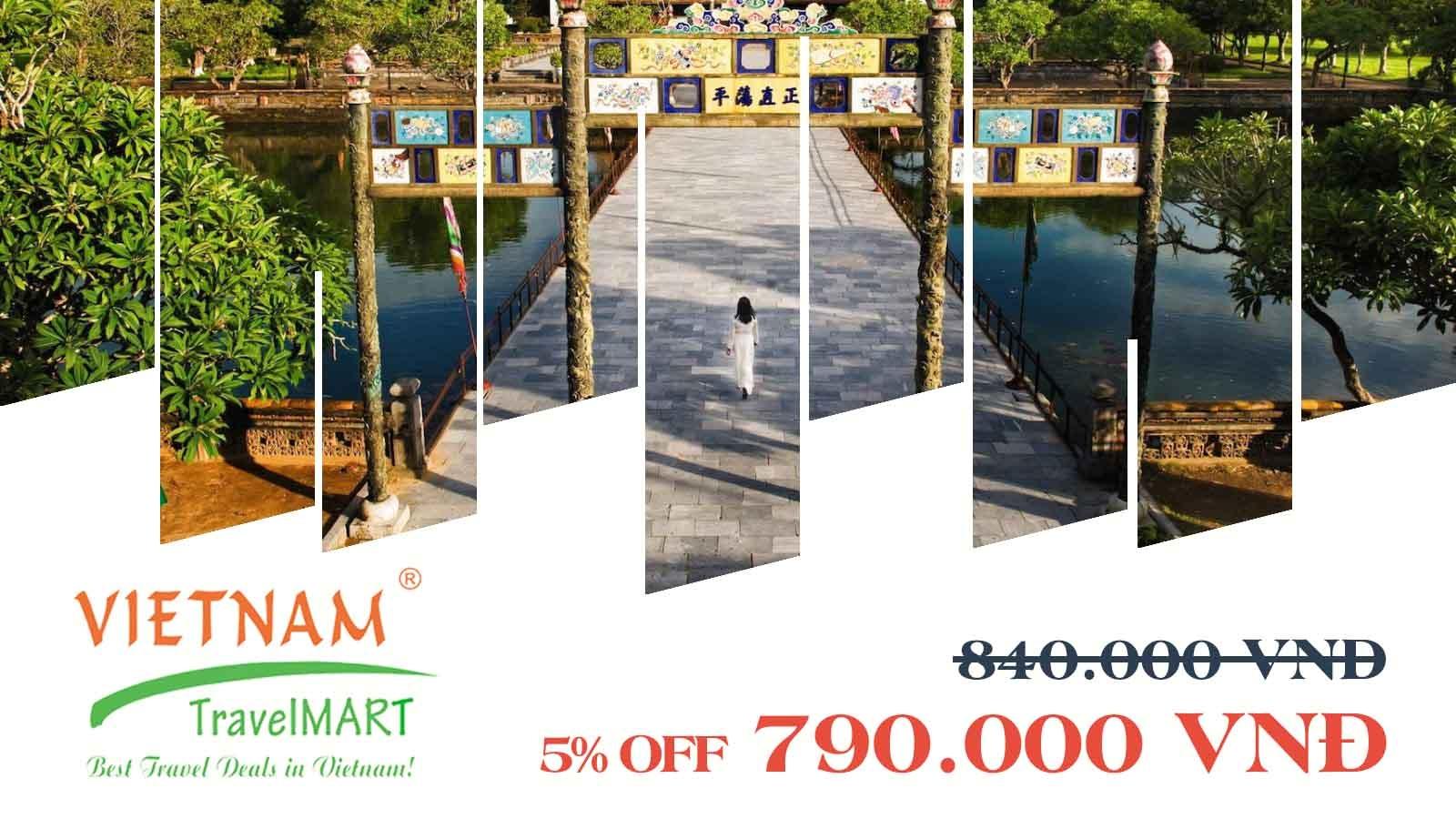 VIETNAM TRAVELMART JSC   5% OFF HUE CITY TOUR  IMPERIAL CITADEL- KHAI DINH TOMB - THIEN MU PAGODA