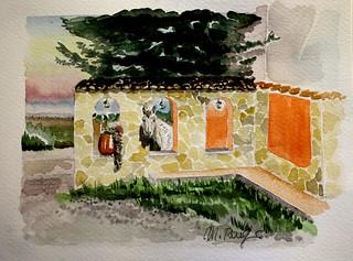 Masseria Paglia Arsa - acquerello di Margherita Ronghi