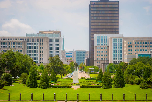 Downtown Baton Rouge from the State House