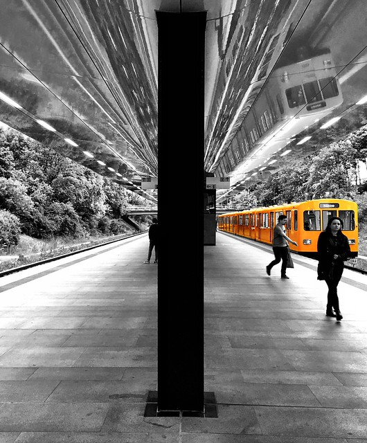 The reflected train
