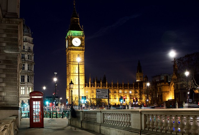The 2 most iconic things in London - Big Ben and the Red (Telephone) Boxes