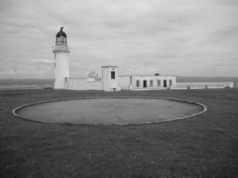 Lighthouse and helipad