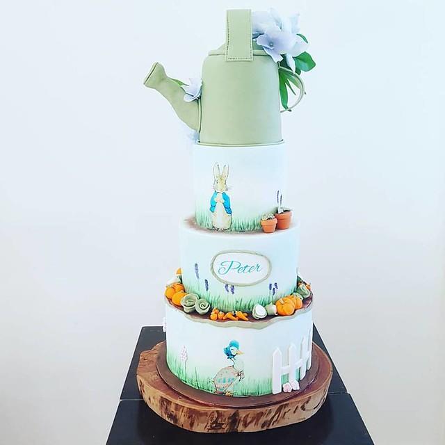 Peter Rabbit Christening Cake by Stella Bella Cupcakes
