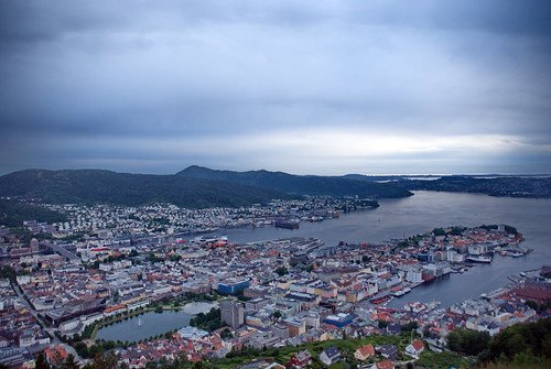 view bergen norway city byen oversyn norwegen