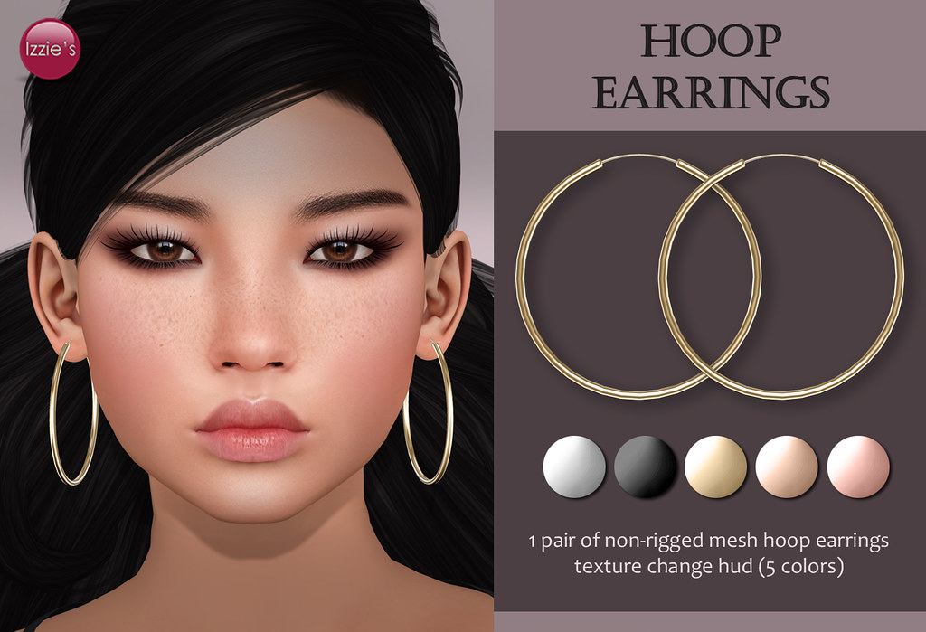 Hoop Earrings (for FLF) - SecondLifeHub.com