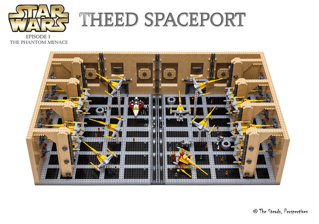 Theed Spaceport MOC - 19