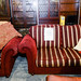 3 plus 2 wine and gold stripe fabric suite E300