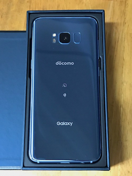 Galaxy S8 SC-02Jの背面