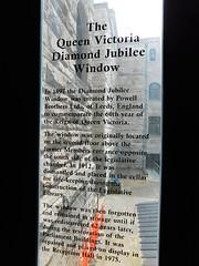 Queen Victoria Diamond Jubilee Window Sign