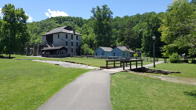 Pioneer village at Spring Mill State Park in Indiana
