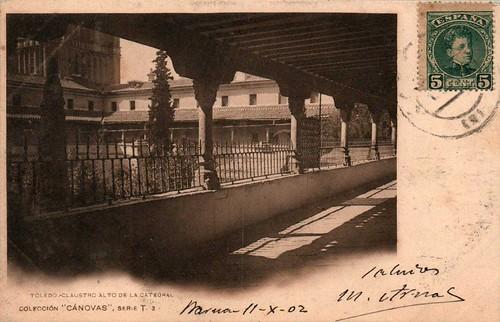 Claustro de la Catedral  hacia 1900. Fotografía de Antonio Cánovas del Castillo, Dalton Kaulak.