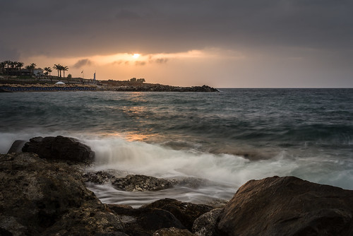 πάνορμοσ panormos crete kreta greece greek water longexposure sunset wave pentax k1 plasticfantastic