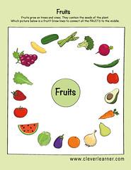 Fruits and vegetables preschool worksheets