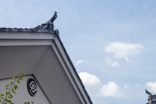 Photo:Kura (蔵) roof with bird By foliosus