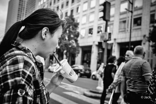 drinking & walking