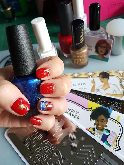 Wonder Woman nails.