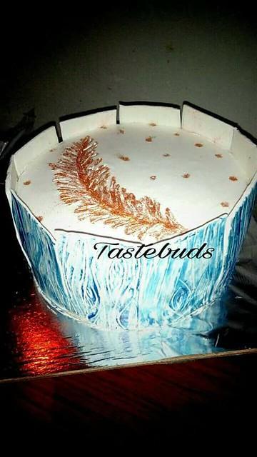Lovely Feather Cake by Jyoti Motwani of Tastebuds Cooking N Baking Classes