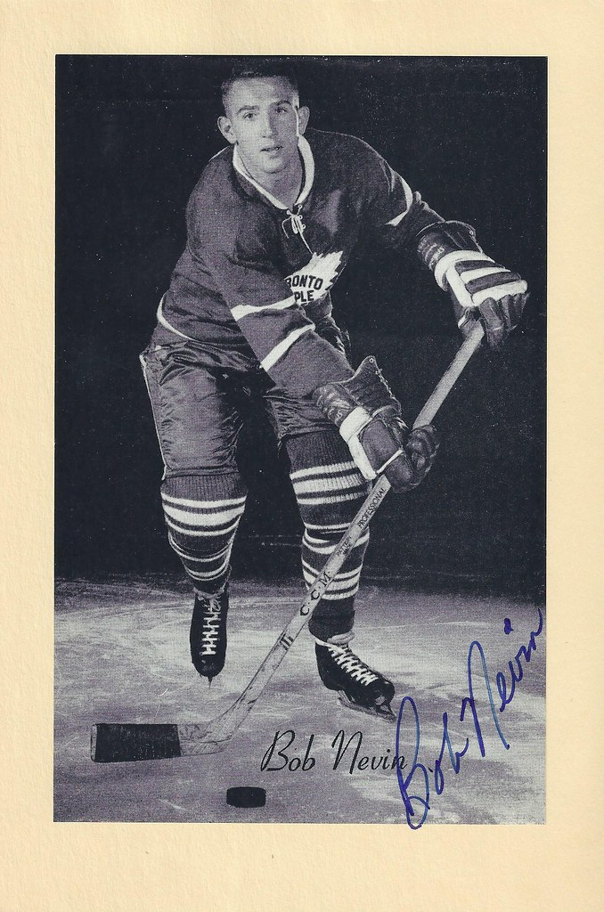 1944-63 NHL Beehive Hockey Photo   Group II - BOB NEVIN (Right Wing) - Autographed  Hockey Card (Toronto Maple Leafs) ( 440) 3129e3a3b