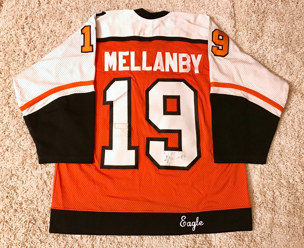 1985-86 Game Worn Scott Mellanby, road set 2 (Back)