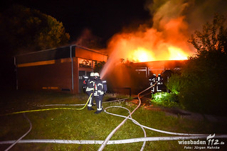 Gebäudebrand Groß-Gerau 09.07.17