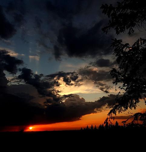 big, dark clouds