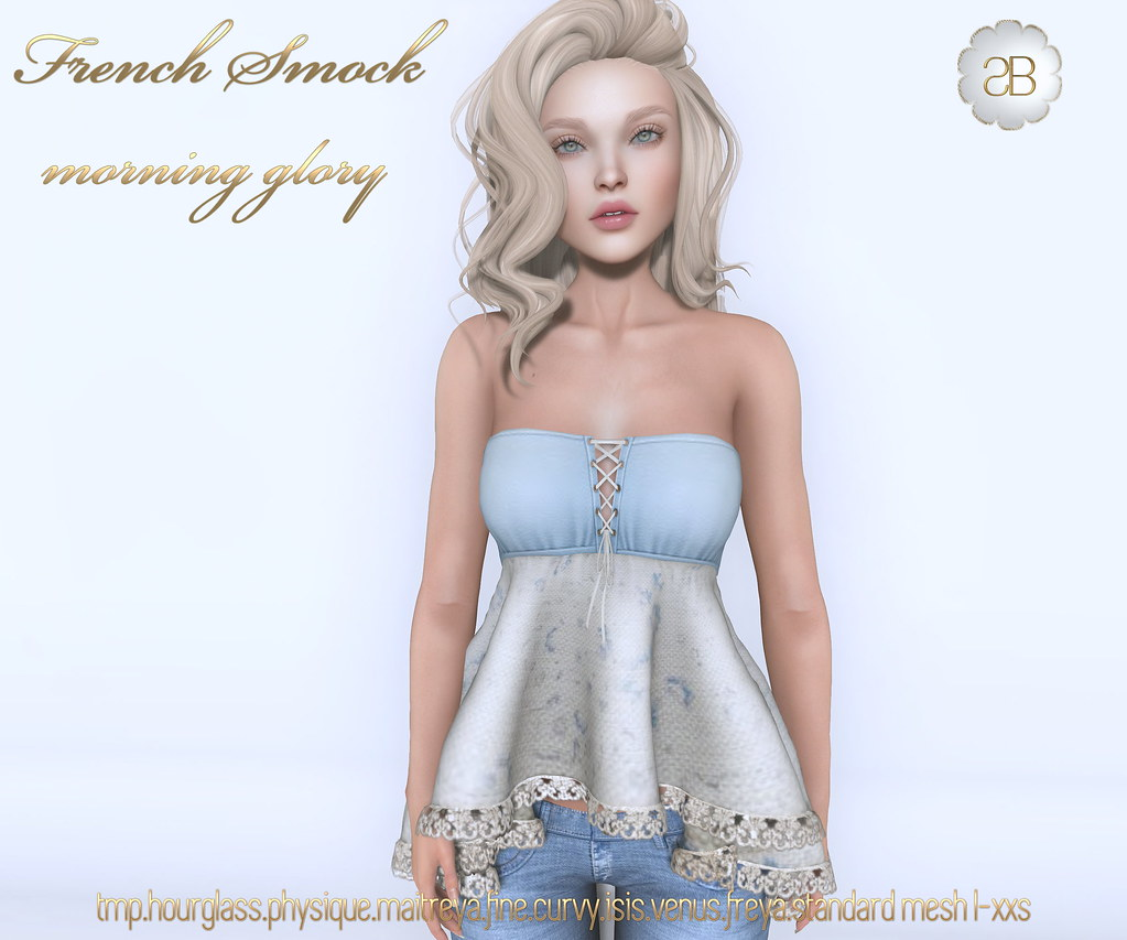 -sb-french smock morning glory - SecondLifeHub.com