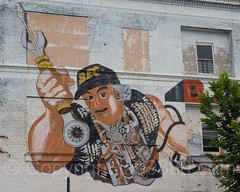Building Wall Mural, Morrisania, Bronx, New York City