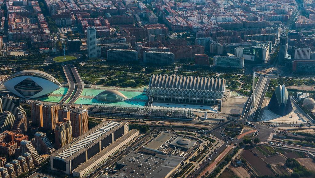 Aerial View of The Arts & Science Area (Ciutat de les Arts) Valencia (Panasonic Lumix LX15) (1 of 1)