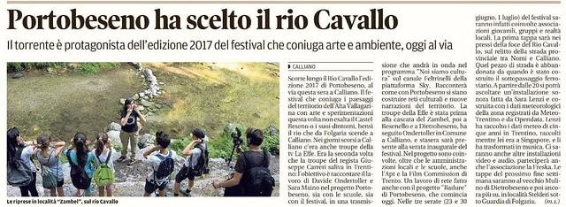 Il Trentino 23 giugno 2017 rassegna stampa