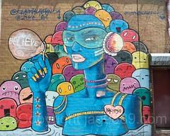 Believe Harman Wall Mural (2016) by Claudia La Bianca and Miss Zukie, Bushwick, Brooklyn, New York City