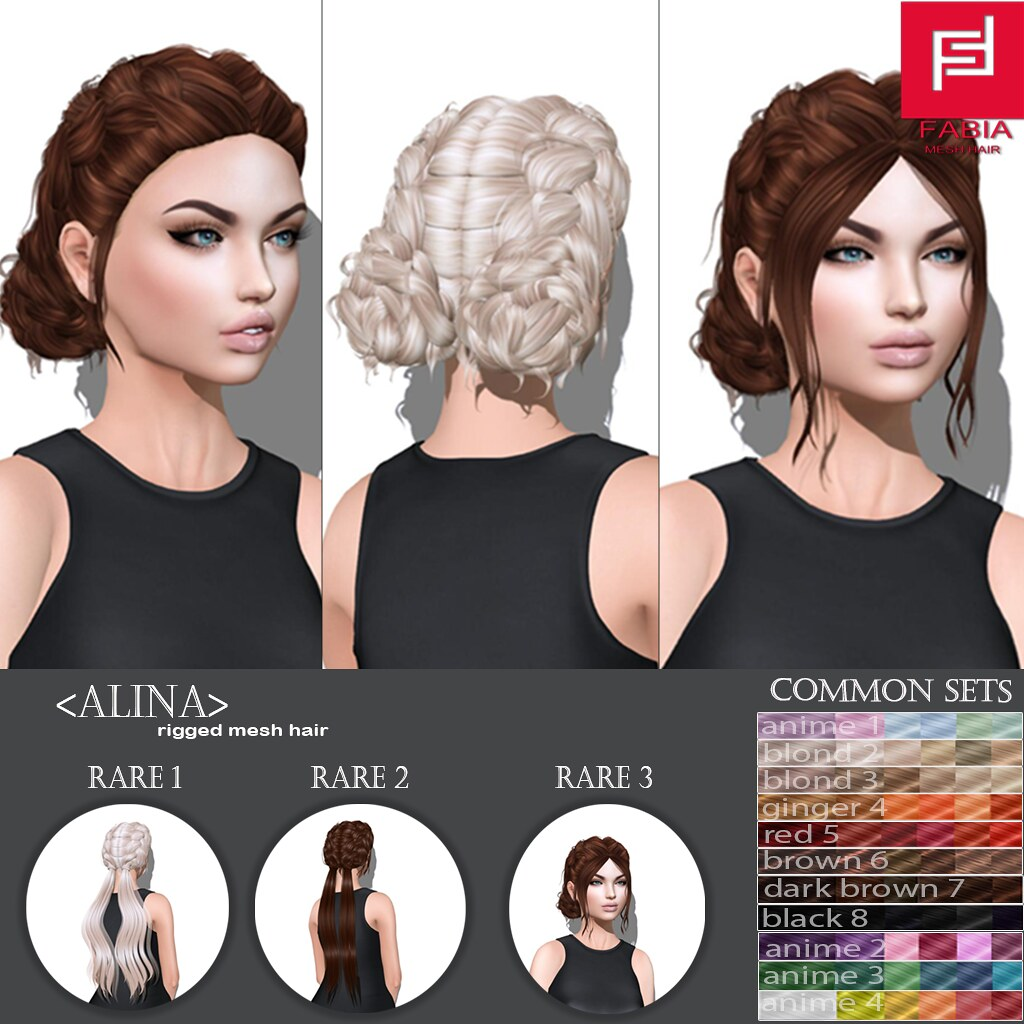 -FABIA- Mesh Hair   <Alina > - SecondLifeHub.com