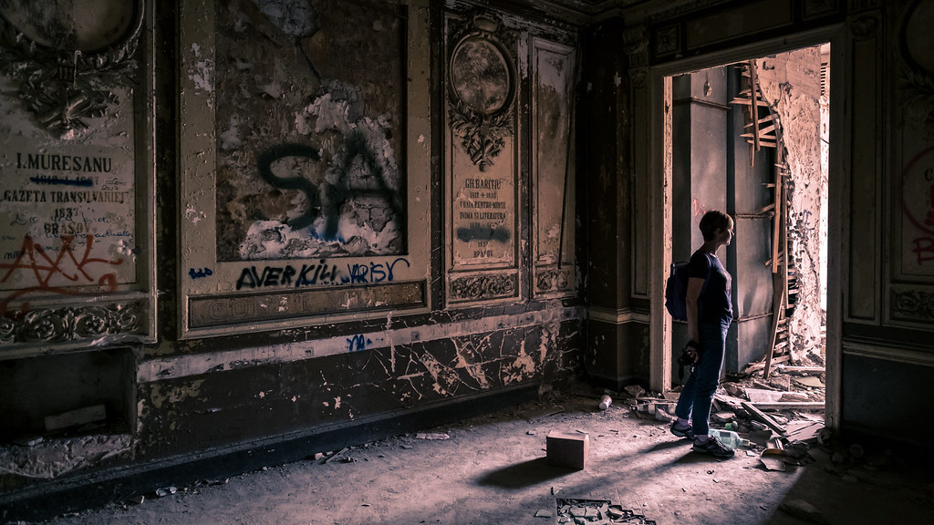The abandoned building, Bucharest, Romania picture