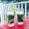 Mojitos on the balcony. With mint from our garden, and background smoke effect. #drink #mojito #tasty