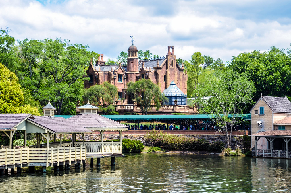 Haunted Mansion across water