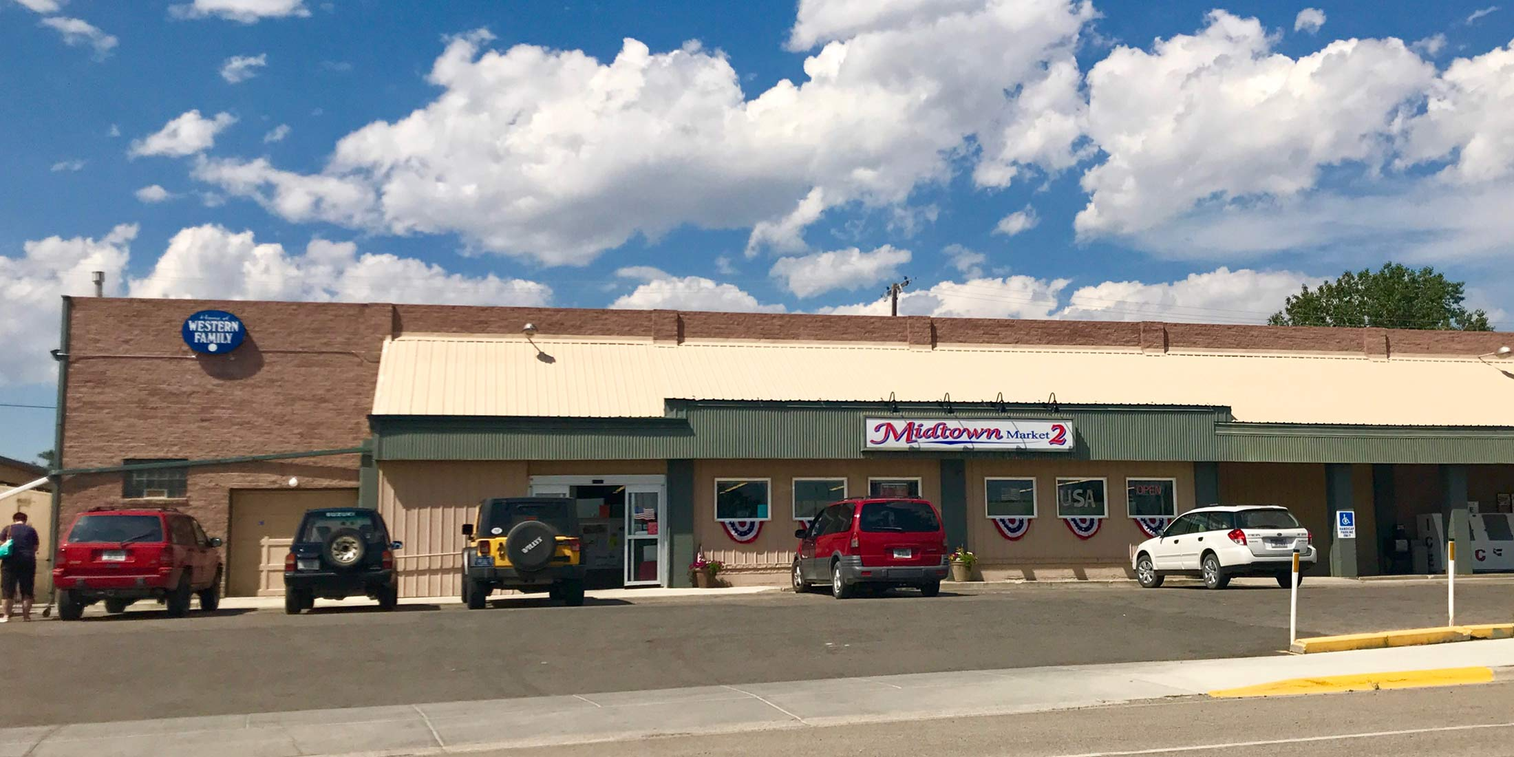Stock up on groceries and supplies at Midtown Market located on Highway 12 in Harlowton, Montana - Wheatland County.