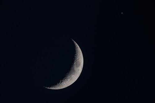 Crescent Moon, Regulus - June 27, 2017 DSC_9098c